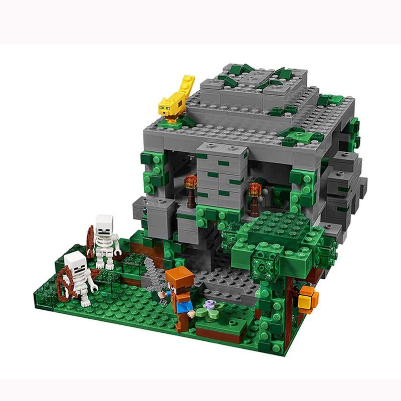 Haben Sie Einen Fragenden Verstand Minecraft Den Dschungel Tempel Steve Skeleton Ocelot 21132 Legoinglys 827 Diy Modell Building Block Set Kinder Ziegel Spielzeug Festival Geschenk