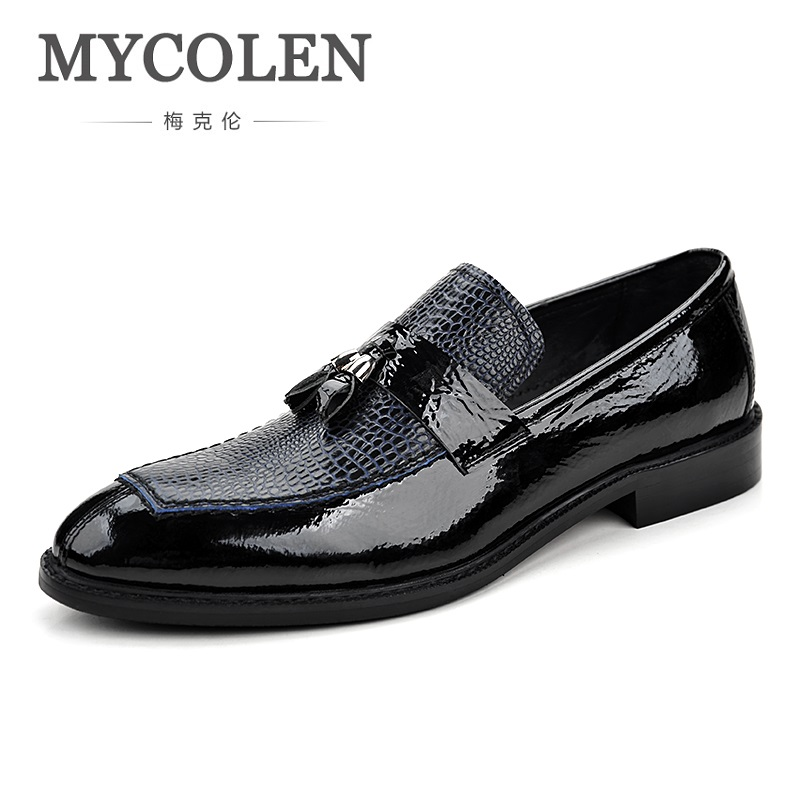 MYCOLEN The New Listing Spring Men Dress Shoes Youth Pointed Toe Leather Men's Shoes Comfortable High Quality Business Shoes new listing pointed toe women flats high quality soft leather ladies fashion fashionable comfortable bowknot flat shoes woman