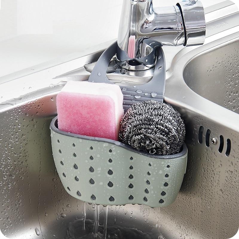 Esponja de la cocina Útil Surtidor de Drenaje de Succión Jabón de - Organización y almacenamiento en la casa