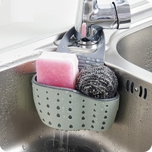 Kitchen Sponge Useful Suction Drain Holder Shelf Soap Storage Rack Basket Organizer