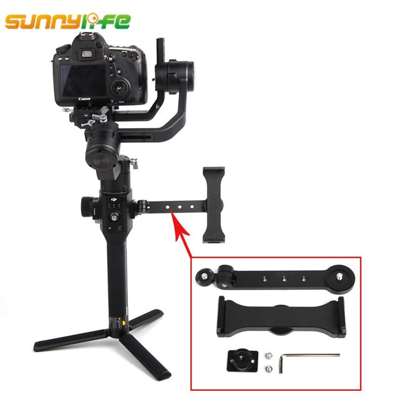 Sunnylife DJI ronin-s adaptateur d'expansion de stabilisateur de cardan portable tablette téléphone cristalsky support de moniteur accessoires de support