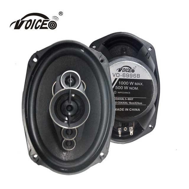 6*9  Auto Loudspeaker Paired Automobile Automotive Car HiFi Coaxial Speaker with Bass & Tweeter Audio Music Speakers for Car