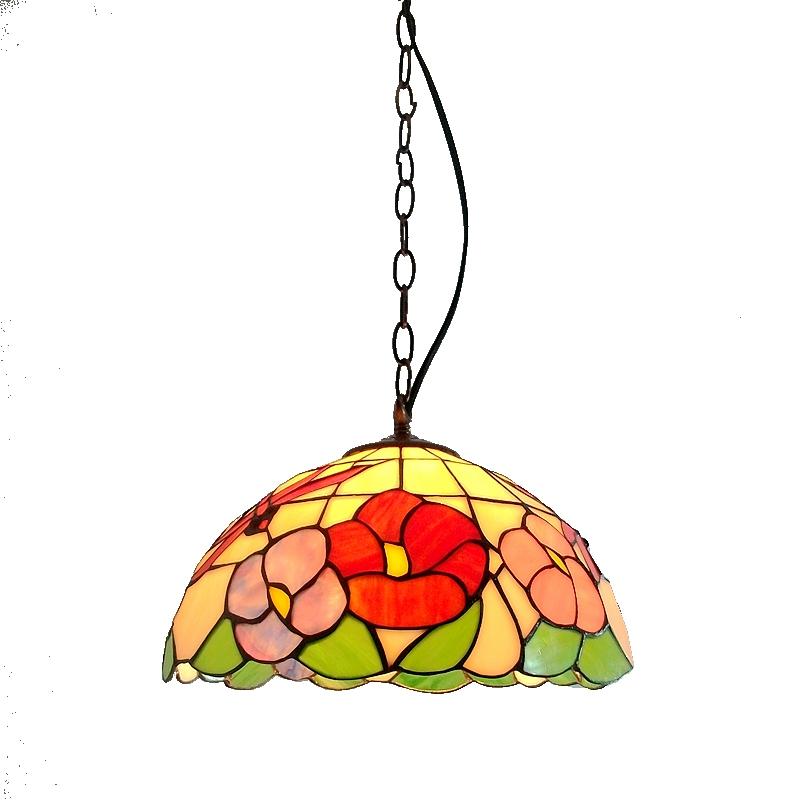 юн бао 30 см пион стрекоза современная люстра тиффани ресторан проход цвет античный сад сад искусство освещения