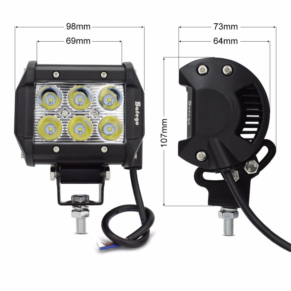 1 db 4 hüvelykes, 18w-os spot fénynyalábos munkavilágító sáv a - Autó világítás - Fénykép 5
