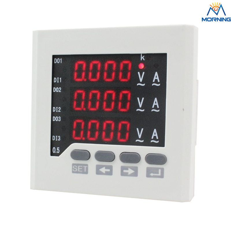 3UIF73 3  phase AC volt amp meter digital Combined Meters  AC/DC 80V~270V  size 80*80mm бесплатная доставка электронный lm10cwmx nopb ic op amp и volt ref 14 soic lm10cwmx lm10 10c 3 шт
