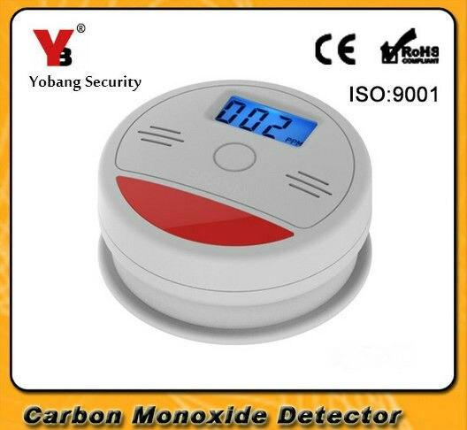Yobang seguridad LCD Sensor de Gas Co monóxido de carbono envenenamiento alarma detector inalámbrico gas venenoso detector de fugas detector de CO