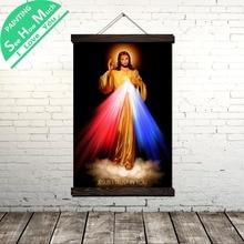 купить!  Милосердие Иисуса  Я верю в тебя Свиток Живопись Винтаж Холст Плакат и гравюры Wall Art Pictures