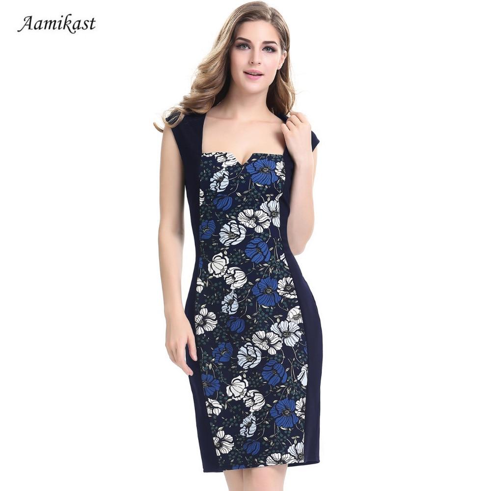 Ženske haljine Ljetni kvadratni ovratnik patchwork Flora Retro - Ženska odjeća - Foto 1