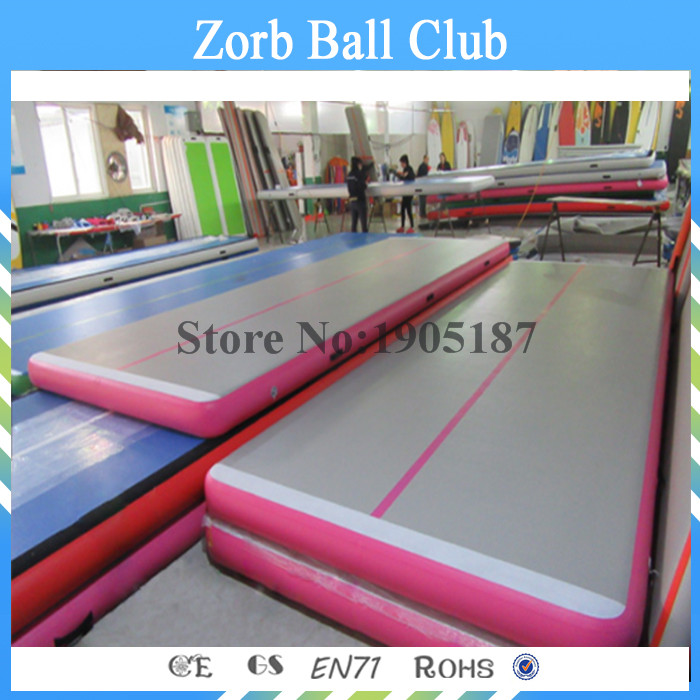 Free Shipping 4m Pink Small Tumbling Cheerleading Mini Gymnastics Used Inflatable Air Track For Sale hot sale inflatable air tumble track gymnastics for sale