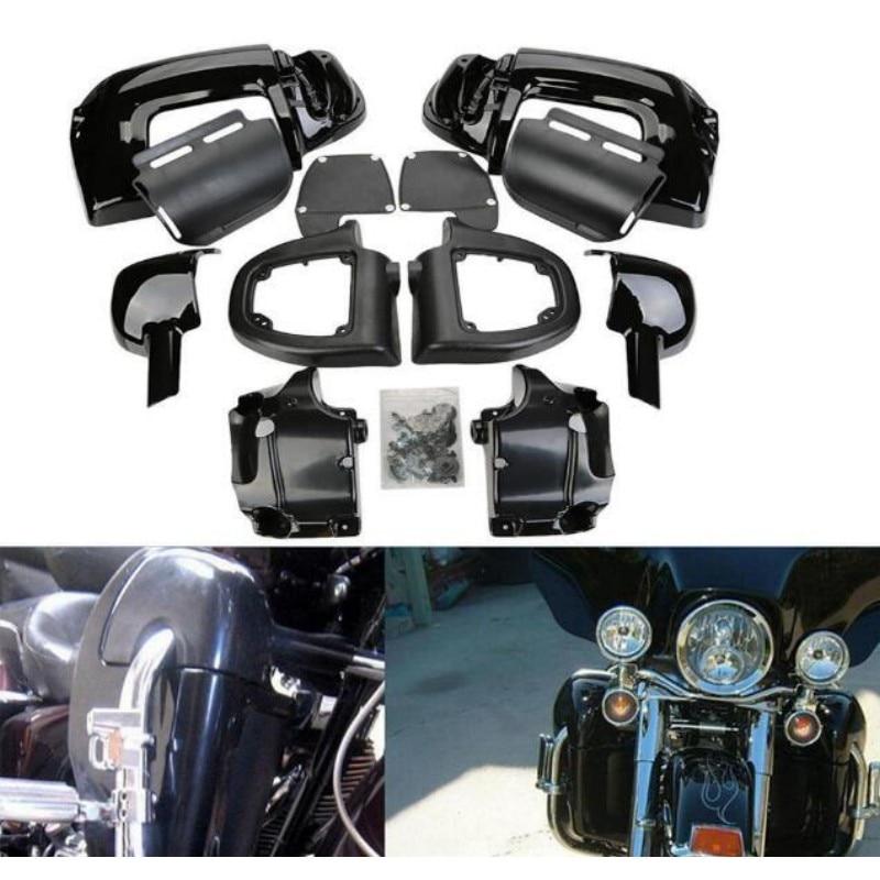 Prix pour Nouveau Peint Moto Basse Évacué Jambe Carénages Boîte à Gants Harley Road King Tour Electra Glide
