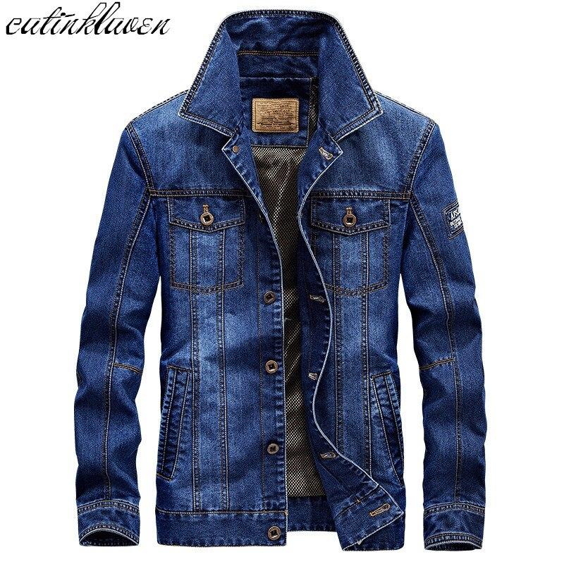 2017 Manteau Automne Hiver Mode Vestes En Jean Homme Jeans Slim Fit Hommes Vestes Et Manteaux décontracté Bomber veste hommes décontractée Veste