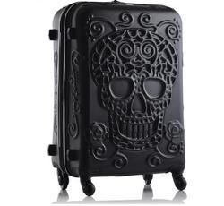 Reizen tale persoonlijkheid mode 19/24/28 inch Rolling Bagage Spinner merk Reizen Koffer originele 3d schedel bagage