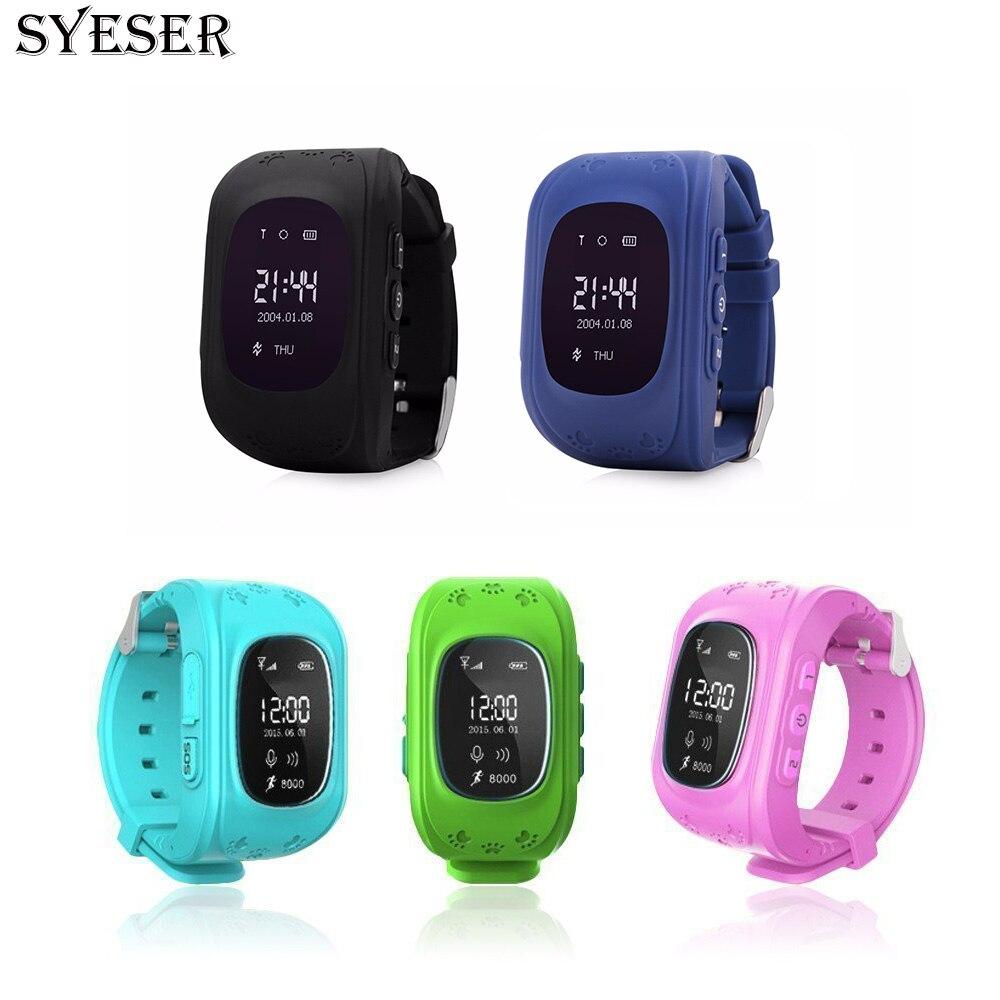 SYESER Q50 Anti Lost Child GPS Tracker smart watch Passomete GSM Phone with SIM card Kids