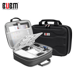BUBM Capacity Expansion Electronics Travel Organizer Storage Bag for USB Cable Charging Cord, IPad Mini/ 9.7'' Ipad Pro