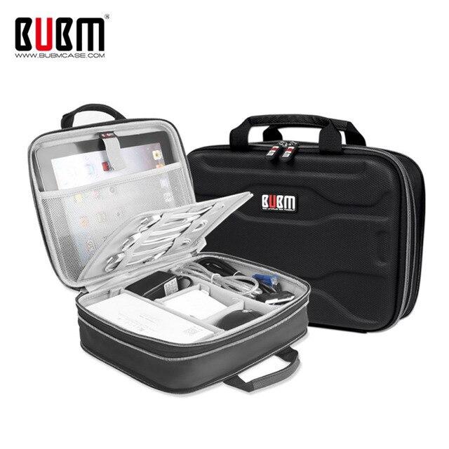 """Estuche BUBM la expansión de la capacidad electrónica organizador de bolsa de almacenamiento para Cable de carga USB Cable de IPad Mini/9,7 """"Ipad Pro"""
