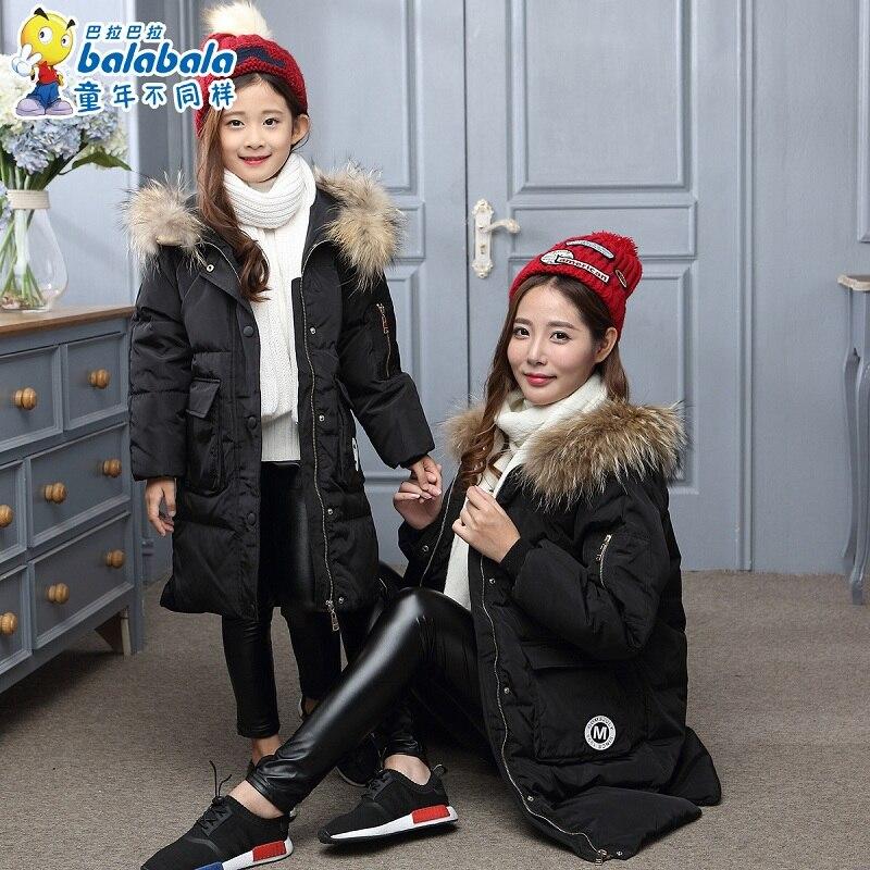 Mère et bébé fille vêtements mère fille haute qualité doudoune quatre couleurs maman et enfants enfants vêtements d'hiver