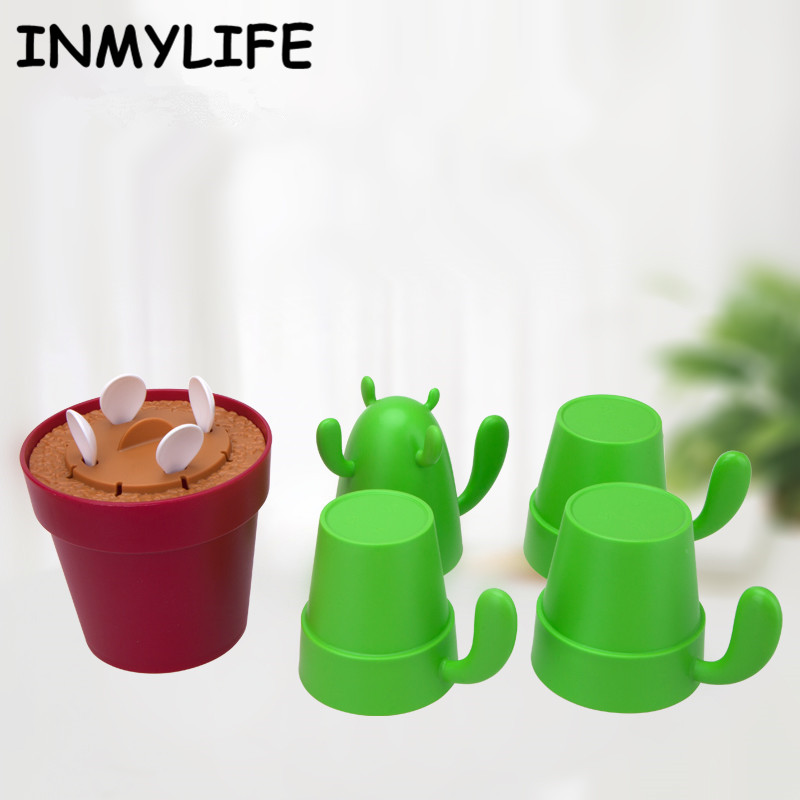 INMYLIFE 4 pieces /set Stackable Cactus Plant Mugs Set for Coffee Tea Creative Home Mugs Cute Southwestern Decor coffee mug