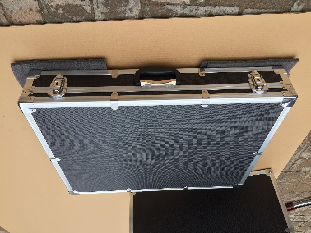 custom Aluminum alloy tool case equipment suitcase 700 *600* 100 mm ( with custom EVA foam) 4pcs custom 100