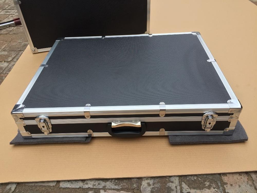 custom Aluminum alloy tool case equipment suitcase 700 *600* 100 mm ( with custom EVA foam) 4pcs custom 19