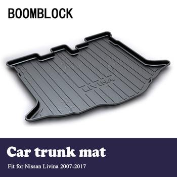 BOOMBLOCK Car Special Trunk Floor Foot Mat Pad Non-slip Dustproof Accessories For Nissan Livina 2017 2016 2015 2014-2007