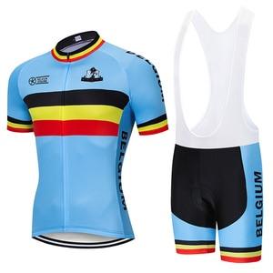 Image 3 - Crossrider 2020 בלגיה רכיבה על אופניים ג רזי סט MTB אחיד אופני בגדים לנשימה אופניים ללבוש בגדי גברים של קצר מאיו יע