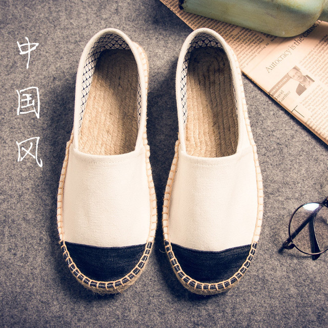 3ef45515f Nuevo estilo de los hombres de los Holgazanes Zapatos de los planos de Nueva  costura trenza ...