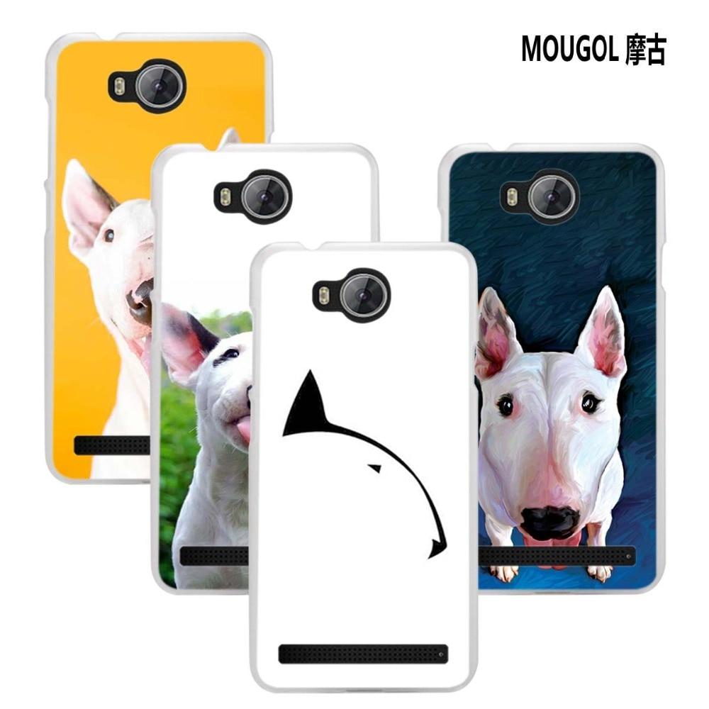 MOUGOL Bullterrier bull terrier design transparent hard Phone case cover for Huawei Y3II Y5II Y6 II 2017 Y6Pro