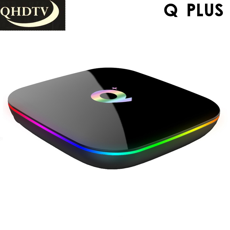 Q PLUS IPTV France Arabic TV Receivers Android 8.1 4GB 32GB Media Player QHDTV Italian Dutch Spain French Arabic IPTV 1 Year-in Set-top Boxes from Consumer Electronics    1