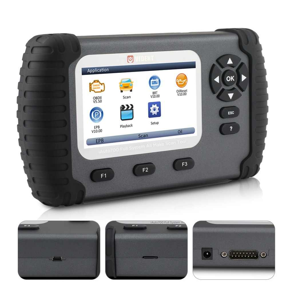 Vident Iauto700 Professional Car Full System Diagnostic Tool For Engine Oil Light Epb Eps Abs Airbag