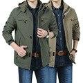 Vendas Hot! outono inverno homens Jaqueta Casual casaco Outerwear respirável Mens Jaqueta Impermeável 4XL Casacos Blusão Homens L135