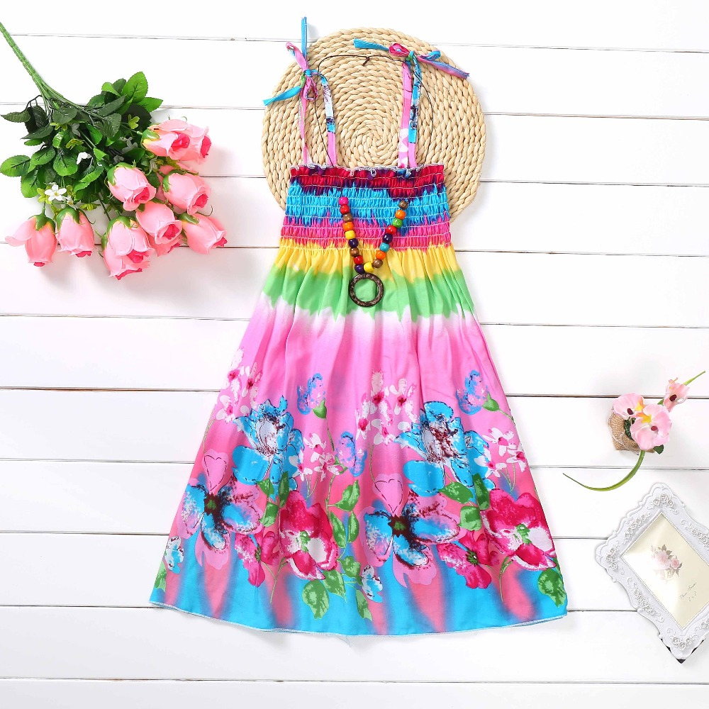 Girls Dress For Kids Girl Dresses For Baby Girls Sundress Kids Clothes Shoulderless Dress Fashion Bohemian Dresses Beach Style new summer style girls dresses fashion knee length beach dresses for girls sleeveless bohemian children sundress girls yellow 3t