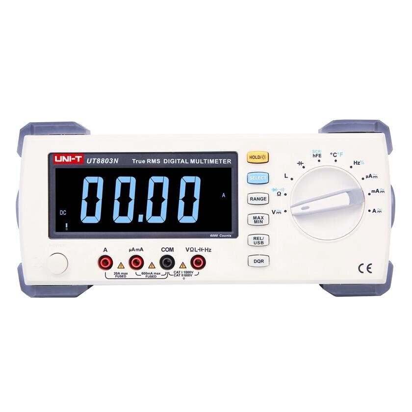 UNI T UT8803N EBTN Bancada Multímetro True RMS DMM DCV/ACV/DCA/ACA Ohmímetro Indutância Capacitância medição de temperatura