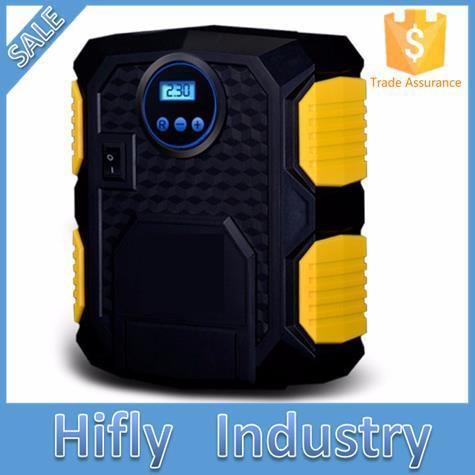 FUFLY Brand NEW Digital Display Auto Car Air Compressor Pre set LED Light Digital Pistol Tire