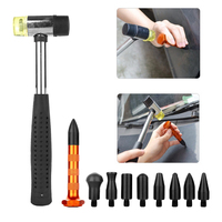 Paintless Dent Repair Hail Removal Tools Kit Tap Down Pen With 9 Heads PDR Tools Set