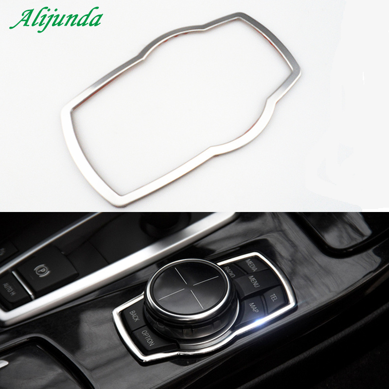 Car Styling Multimedia Button Decoration Stickers For BMW X1 X3 X5 X6 E70 E83 E90 E91 F15 F16 F20 F21 F30 F10 Accessories