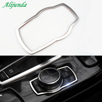 Car Styling Multimedia Button Decoration Stickers For BMW X1 X3 X5 X6 E70 E83 E90 E91 F15 F16 F20 F21 F30 F10 Accessories image