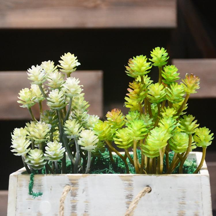 Artificial Succulent plant False green plant green interior decoration microlandschaft decorative flower home Balcony decoration