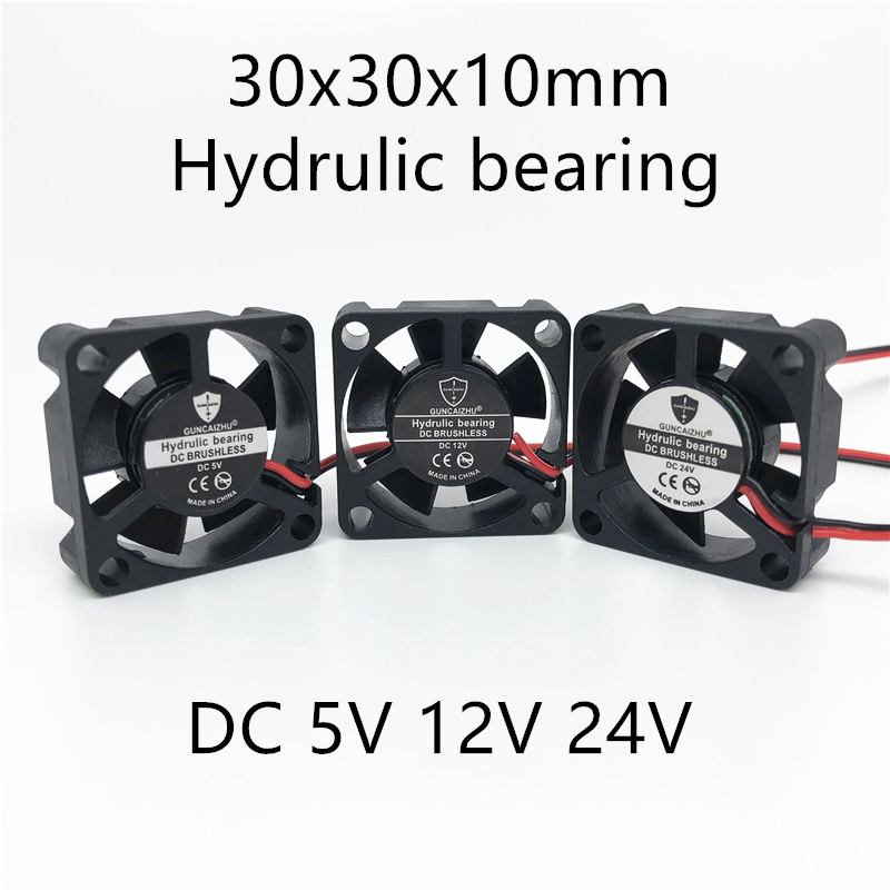 2pcs NEW 3d Printer Fan 3010 30MM 30*30*10MM 3cm Graphics Card Fan Cooling Fan  5V 12V 24V 0.1A  With 2pin