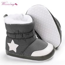 Ботинки для новорожденных; унисекс; детская зимняя обувь; детская кроватка; Bebe; для малышей; пять звезд; снежные ботинки