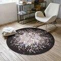 Креативный геометрический всплеск абстрактный круглый ковер для спальни компьютерный стул коврик журнальный столик для гостиной ковры дл...