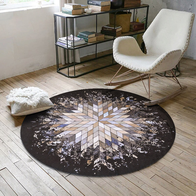 Creative Geometric Splash Abstract Round Carpet Bedroom Computer Chair Rug Living Room Coffee Table Carpets Kids Room Game Matin Carpet From Home Gorgeous Carpets For Bedroom