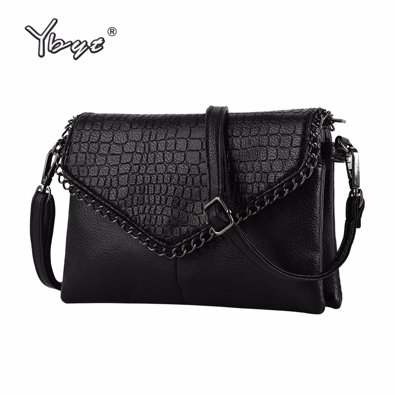 купить YBYT brand 2018 new vintage casual chains alligator women clutch hotsale ladies party purse shoulder messenger crossbody bags по цене 790.81 рублей
