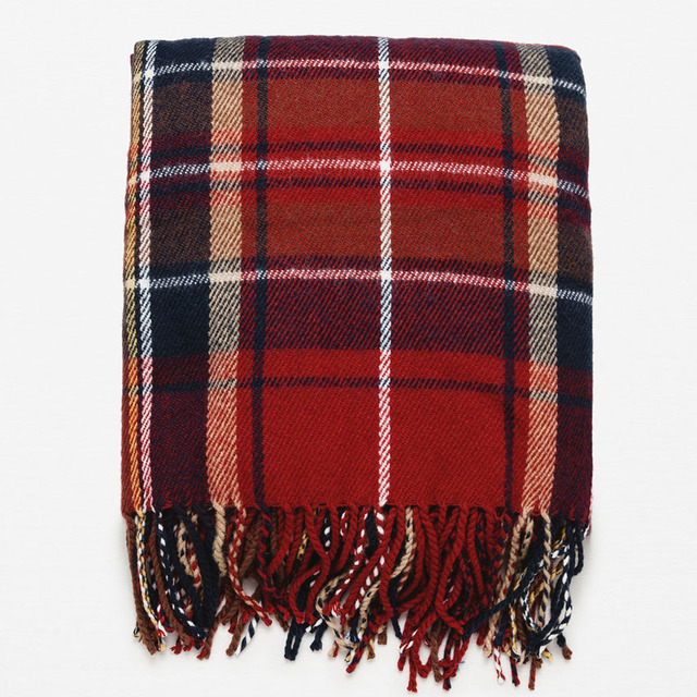 Высокое Качество ZALA новый Акриловый Плед Шарф Испания Дизайн Мода Досуг Зима теплая Большой размер шарф Для Мужчин