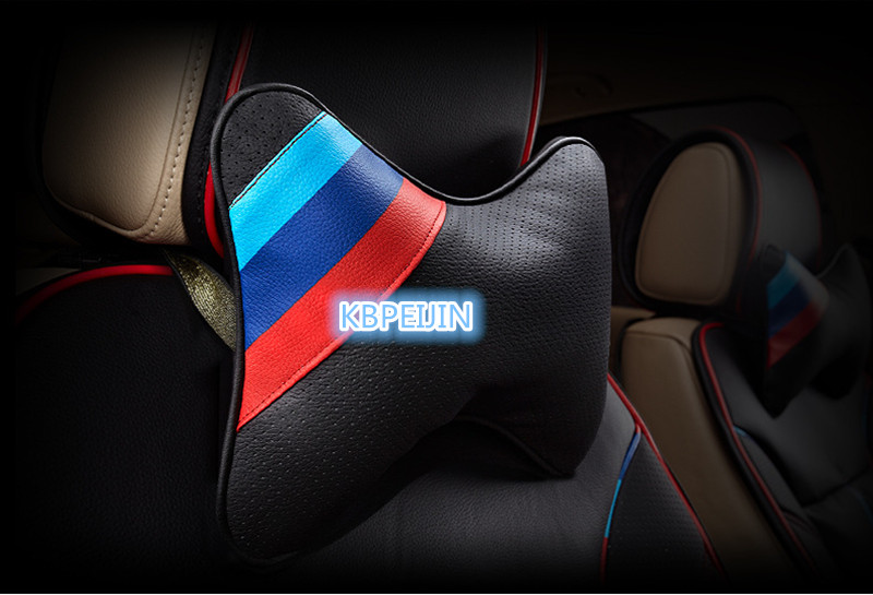 3 color Car styling Car Neck Pillow Perforating Design for <font><b>BMW</b></font> E82 E88 F20 F22 E21 <font><b>E30</b></font> E36 E46 E90 E91 E92 E93 F30 <font><b>Accessories</b></font> image