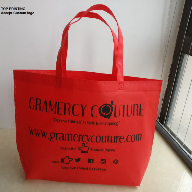 894985db00 500pcs lot Custom Gift Advertisement Reusable Recycle Non Woven Shopping  Bags Recycle Supermarket Grocery bags with handles