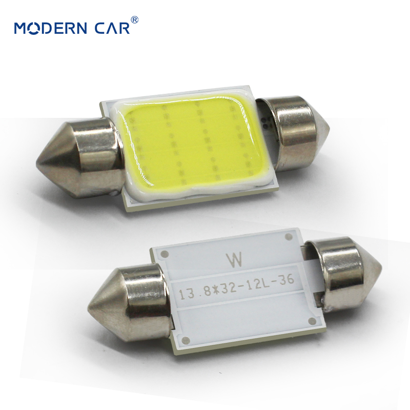 MODERN CAR 2pcs c5w Cob Led Festoon Light Bulb 31mm 36mm 39mm 41mm c3w c10w For Auto Reding Lights Interior Dome Light Lamp 12v (2)