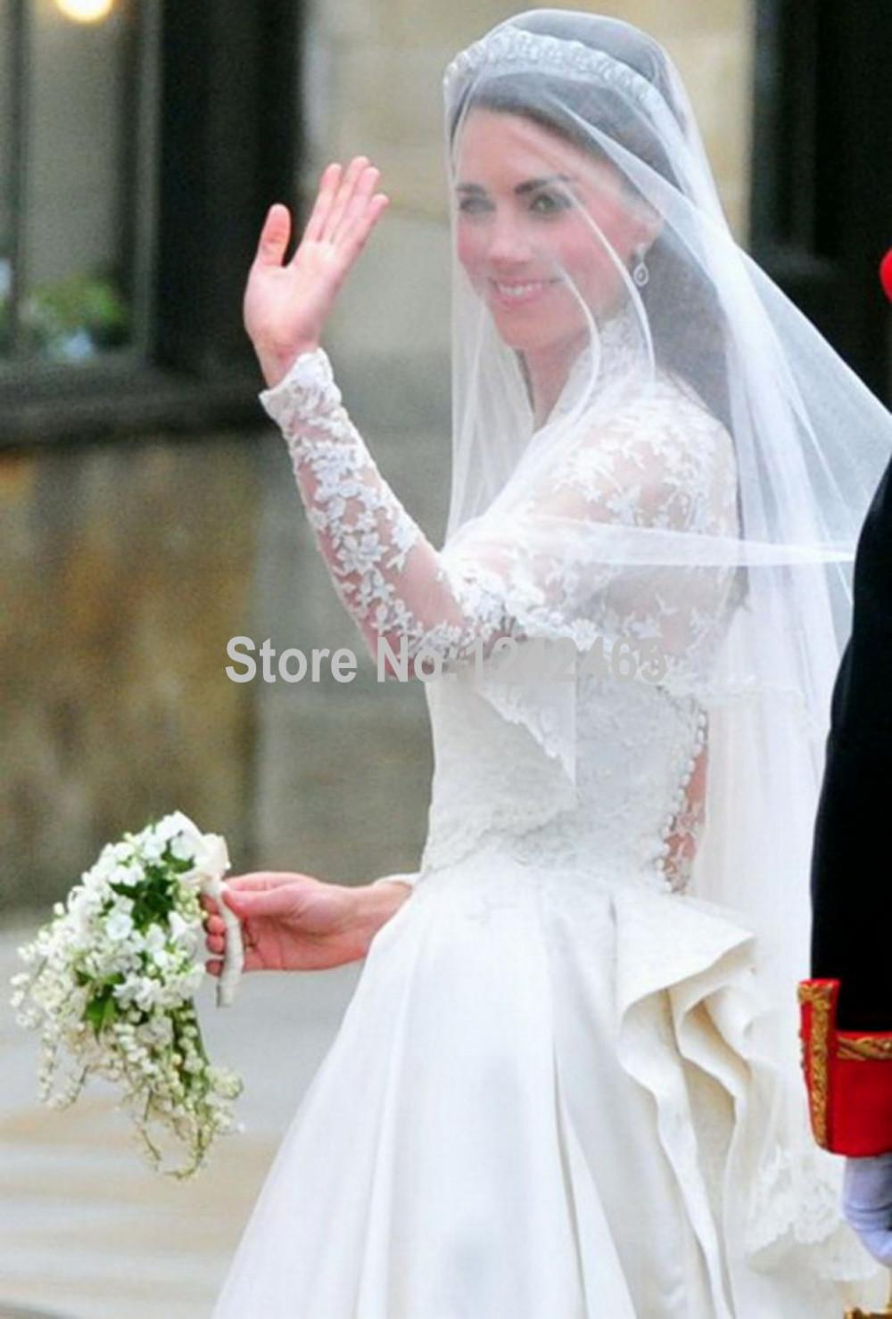 Kate Middleton Trouwjurk Kathedraal Koninklijke Trein Lange
