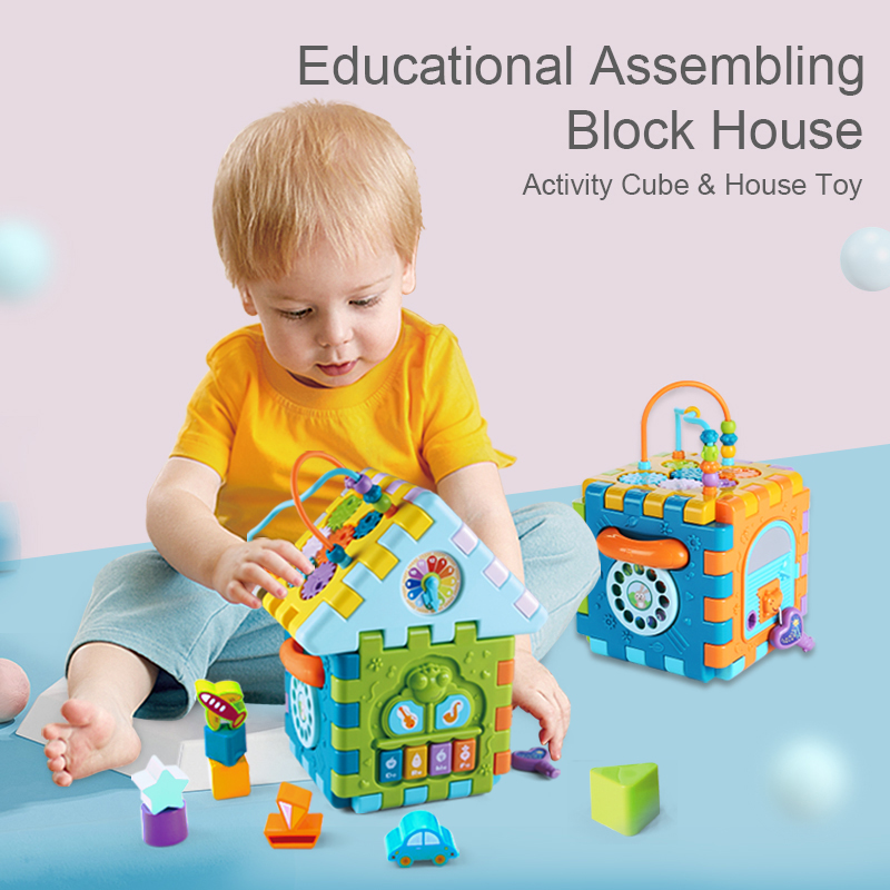 Colourful Geometric Cube Toy Baby Math Blocks Toys For Children Educational Development Box Kids Toys Birthday Gift in Math Toys from Toys Hobbies