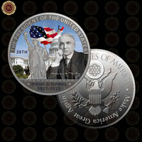 WR Home Decorative American Metal Coin The US 29th President Warren G. Harding Commemorative Coin Quality Silver Coin 40mm