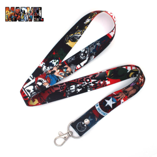 Marvel Avengers Infinity War Iron Man Captain America Cell Phone Rope Chain Strap Clip Cord Charm Lariat Lanyard Keychain Gift